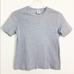 Carhartt Gray Women's T-Shirt Size L (12-14)